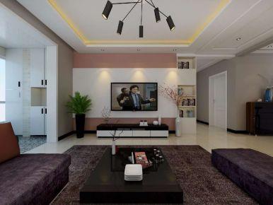 紫金湾现代风110平装修 三居室现代风格家庭装修