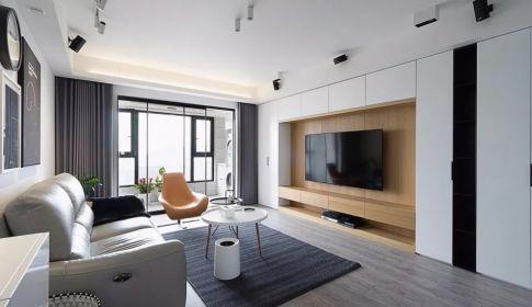 现代风格灰色系装修 现代风格两房装修效果图