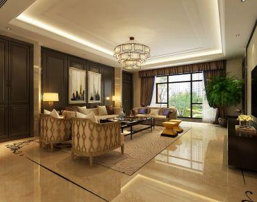 新中式雅居 新中式风格四房装修设计效果图