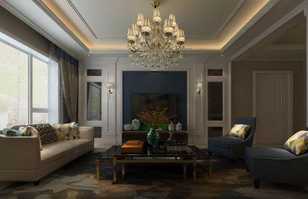 罗曼蒂克 欧式风格四居室家装效果图