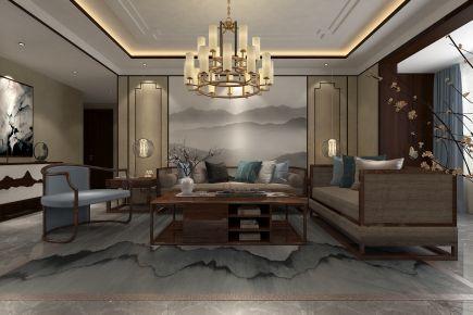 墨香斋 中式风格三房装修设计效果图