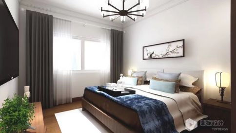 新中式(老房的蜕变) 新中式风格别墅装修设计效果图