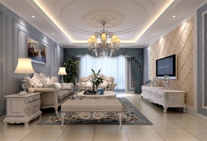 现代简约风格三居室装修设计案例