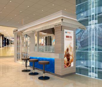 杭州冰淇淋店店面设计 公装设计平台