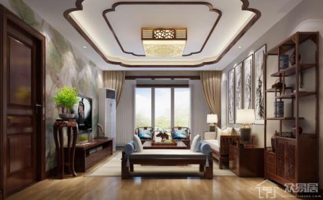 古典中式风家庭装修设计欣赏 古典中式风格四房装修效果图