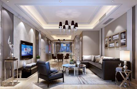 金华溪西帝景现代三房装修  现代风格家庭装修效果图