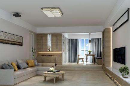 珠海新锦安雅园 现代风格三房装修设计效果图