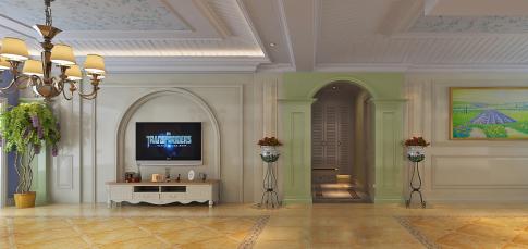 西安灞业大境 创意混搭风格四房装修设计效果图