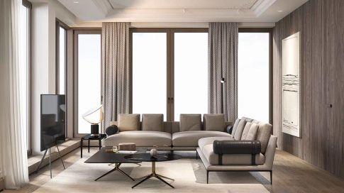 轻奢法式风格四房装修设计 法式风格家庭装修效果图
