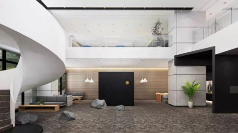 白塔岭美术培训学校设计装修 现代风格办公室装修