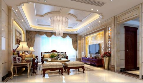 保利中央公馆四居室设计效果图.黎生