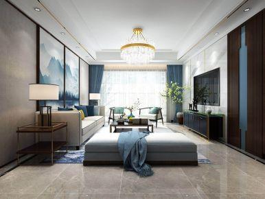 云山诗意中式风格二居室装修案例