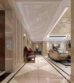 天成佳园欧式风格四居室装修案例
