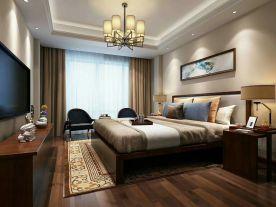 简中风三房装修设计 简约中式风格家庭装修效果图