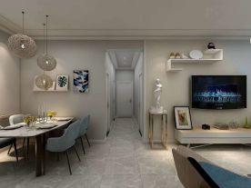 紫苹果装饰|上林轩|119平米现代风格家庭装修设计