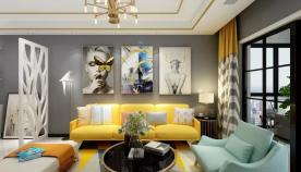 欧式风格三居室家装 欧式风格家庭装修效果图