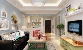 西安曲江香都 地中海风格两房装修设计