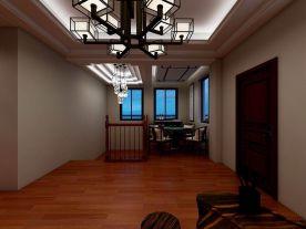 西安三原别墅装修 中式风格别墅设计装修案例