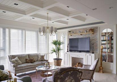 美式乡村三居室装修设计 美式风格三房装修效果图