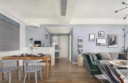 西安120㎡北欧风格效果图 简约欧式风格三房装修设计