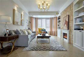 廊坊安瑞嘉园 创意混搭风格两房装修设计效果图