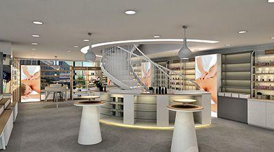 杭州名设网化妆品店设计效果图案例