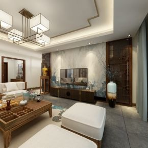 新中式风格三房设计装修 新中式风格家庭装修案例