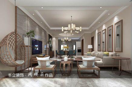 贵阳丰立装饰-梦想典城139㎡中式风格三房装修效果图