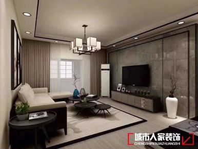 青岛龙樾湾 中国风中式风格三房装修设计
