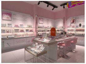 杭州化妆品店效果图设计 化妆品店设计装修