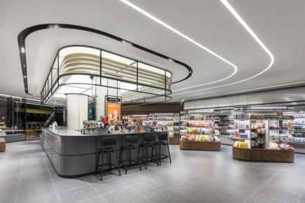 杭州名设足超市设计效果图 超市设计装修案例