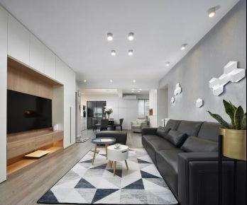 红星国际简约风格三居室装修案例