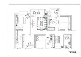 宫园中央 其他风格 装修效果图 四居室 150