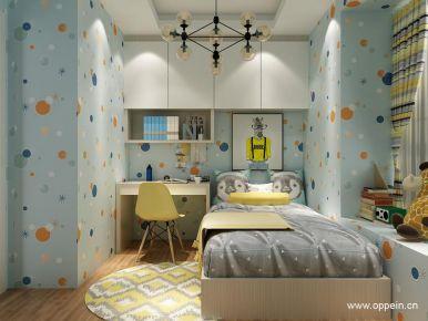 桂香梨现代简约三居室装修 现代风格家庭装修设计效果图