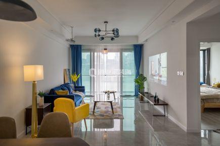重庆珊瑚水岸两居室|现代风格|实景案例图