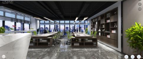天祚科技项目办公室设计 现代风格办公室装修效果图