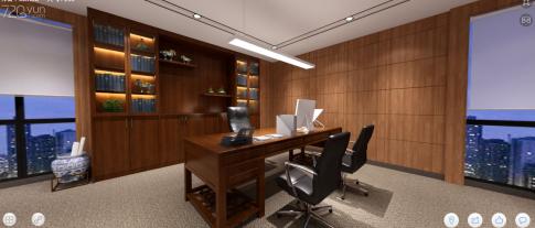 湖南省钜升电力办公室装修 中式风格办公室装修效果图