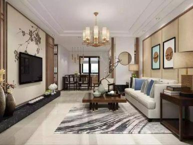 廊坊学府澜湾 中式风格三房装修设计效果图
