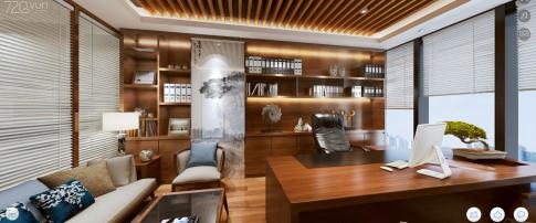 诚丰科技项目办公室装修 现代风格办公室装修效果图