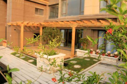 中央天城露台装修设计 简约风格别墅装修效果图