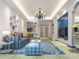 地中海风格四房装修 地中海风格家庭装修效果图