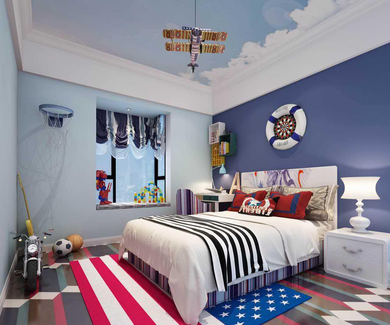 三居室臥室裝修設計 創意混搭風格臥室裝修效果圖