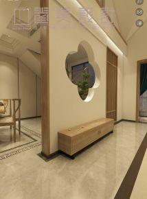 禅的空间 中式风格复式楼装修设计