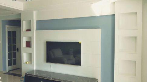 华城新天地完工图 现代风格三居室装修实景图