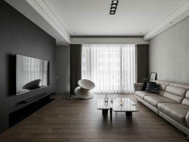 现代风格三房家庭装修设计效果图 横竖与间