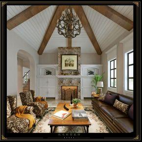 天邻湖景—美式别墅装修 美式风格别墅装修设计案例