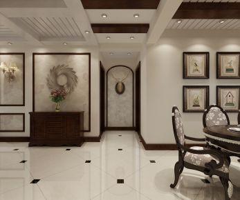 中式风三居室装修设计 中式风格家庭装修案例