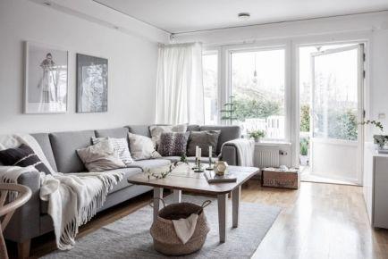 110平米灰色北欧联排别墅装修 欧式风格别墅装修效果图