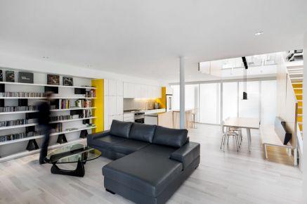 现代简约明亮复式住宅装修 现代简约复式楼装修效果图
