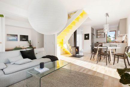 130平米复式住宅装修设计 现代风格复式装修效果图